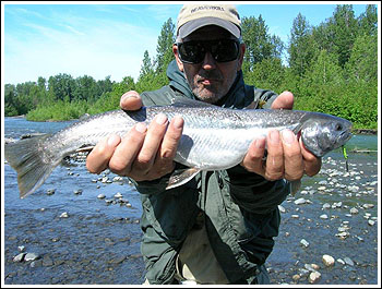 Fly Fishing Guides Flies Fishermen Gear Alaska Arctic Char 7-2011