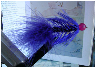 Fly Fishing Guides Flies Fishermen Gear Blue Sucking Leach 9-2011