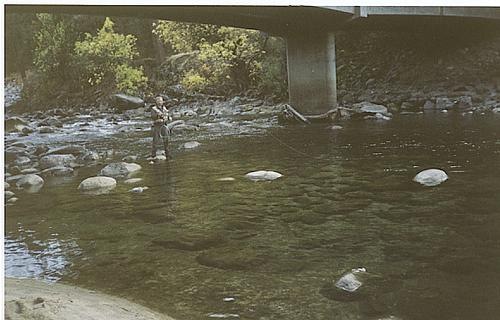 Fly Fishing Guides Flies Fishermen Gear Creek Under Bridge 5-2017