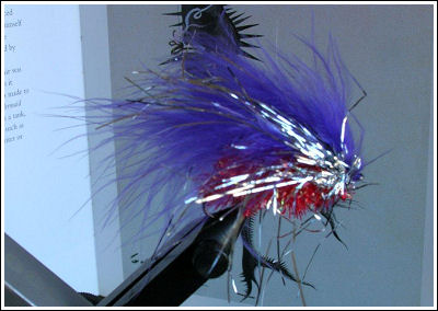 Fly Fishing Guides Flies Fishermen Gear White Blue and Silver Fly 9-2011